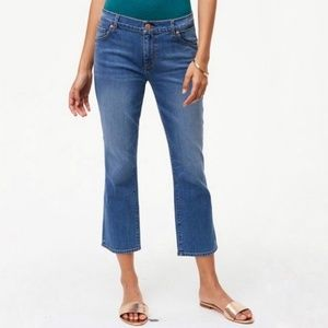 LOFT | High-Rise Curvy Kick Crop Jeans |
